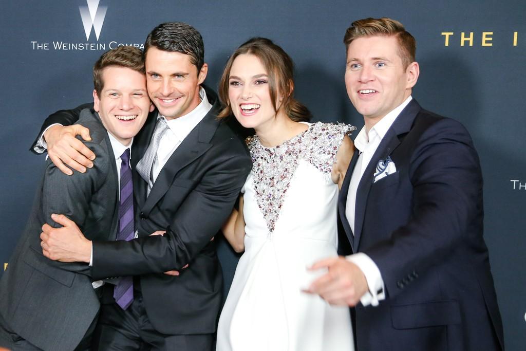 Graham Moore, Matthew Goode, Keira Knightley in Chanel and Allen Leech.