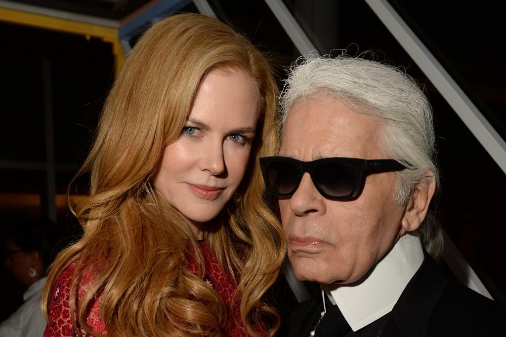Nicole Kidman in Louis Vuitton with Karl Lagerfeld.