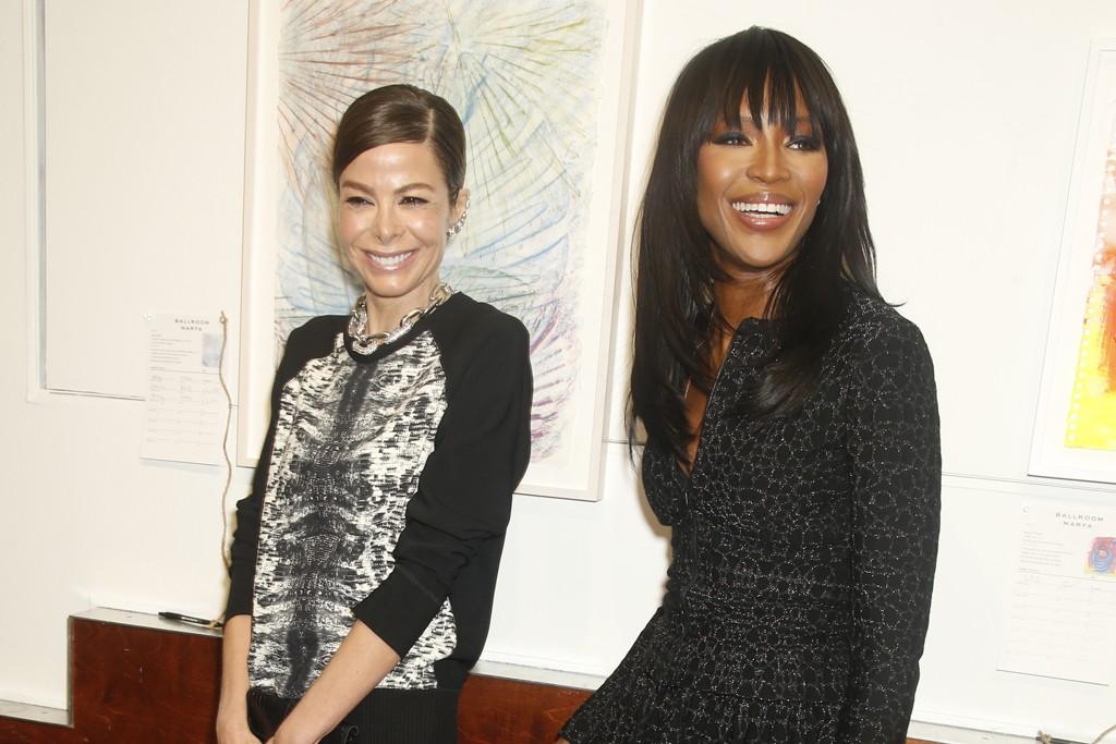 Allison Sarofim and Naomi Campbell