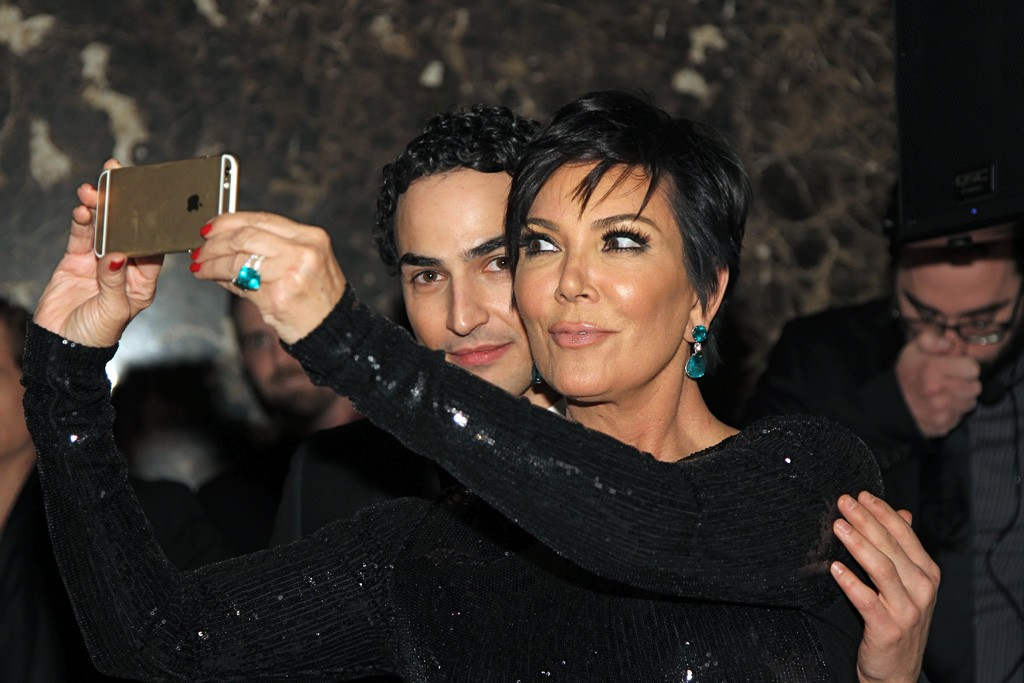 Zac Posen and Kris Jenner