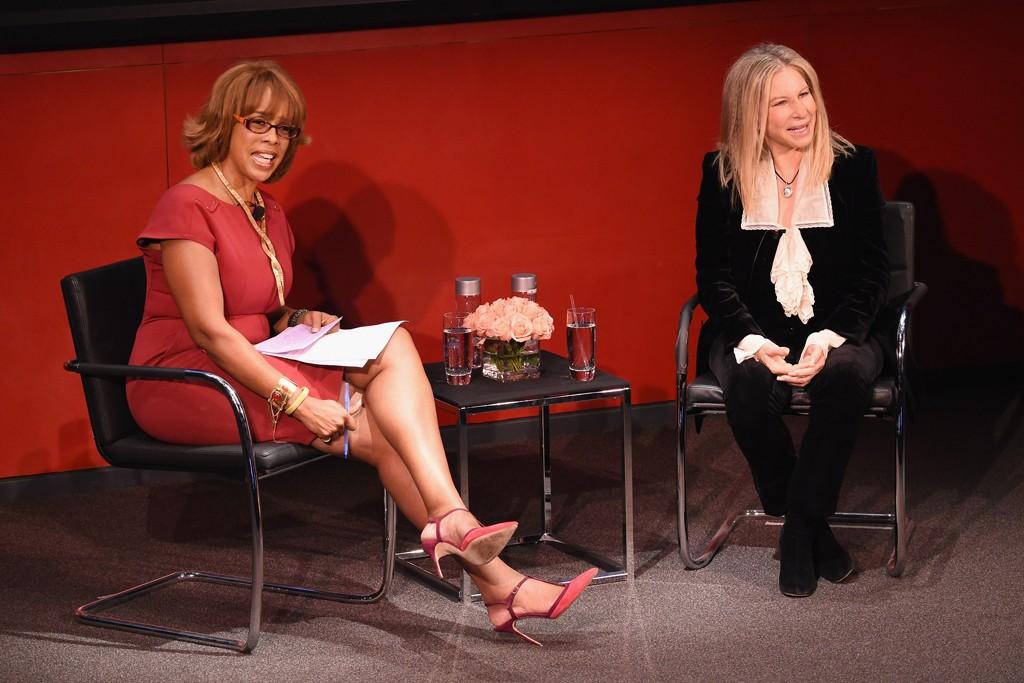 Gayle King interviewing Barbara Streisand.