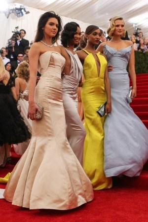 Kendall Jenner, Chanel Iman, Jourdan Dunn and Toni Garrn.