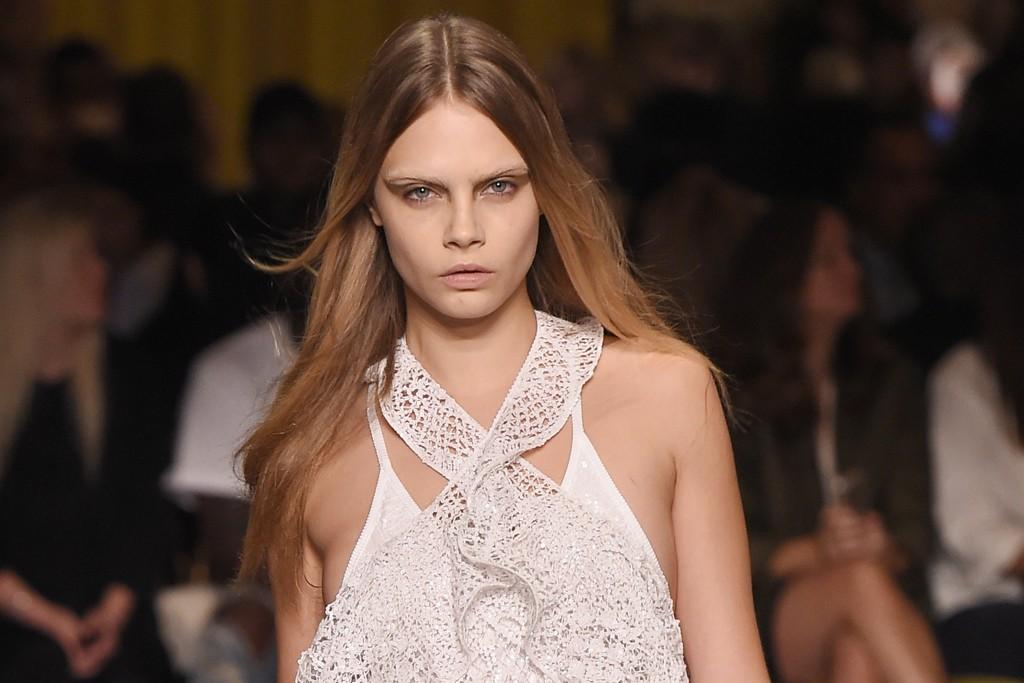 WHITE ROMANCE: Givenchy RTW Spring 2015