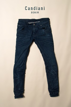A pair of Candiani jeans manufactured using the N-Denim technology.