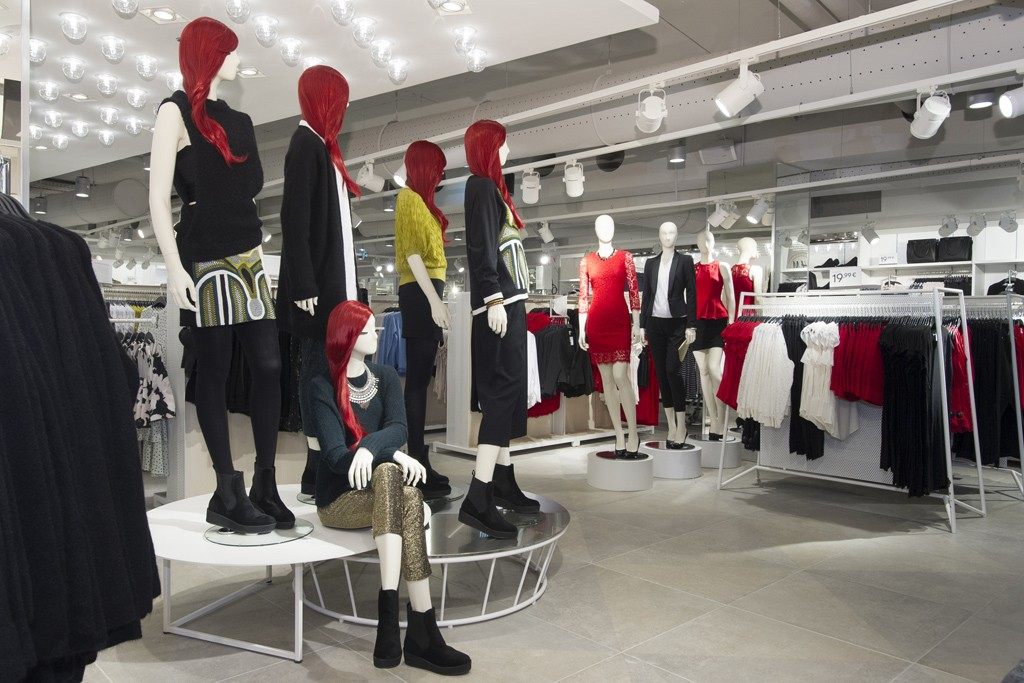 The women's department of the H&M store on Boulevard Saint-Germain.