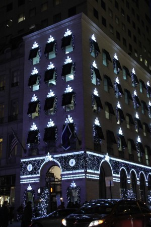 A view of Harry Winston's holiday windows in New York.