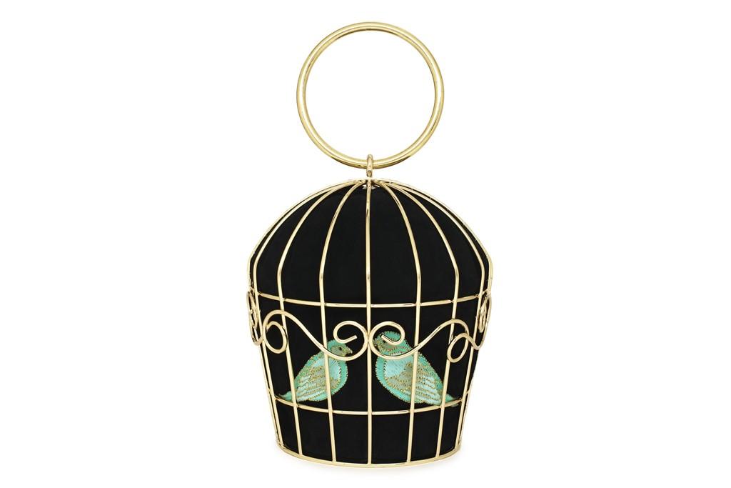 Kate Spade New York novelty birdcage handbag.