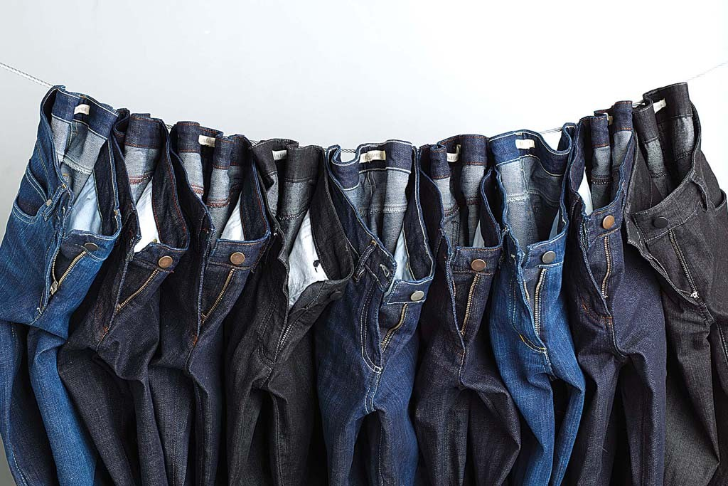 Eileen Fisher denim jeans produced in the U.S.