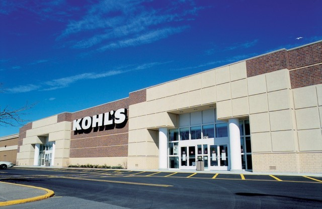 A view outside a Kohl's store.
