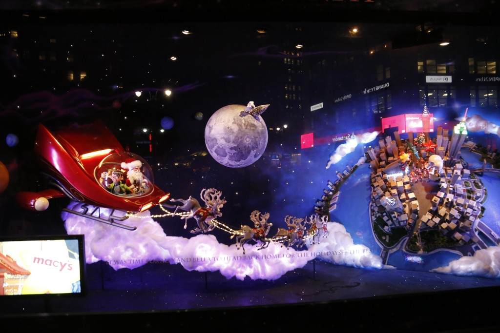 """The fine print: Macy's windows call home """"the best place to celebrate."""""""