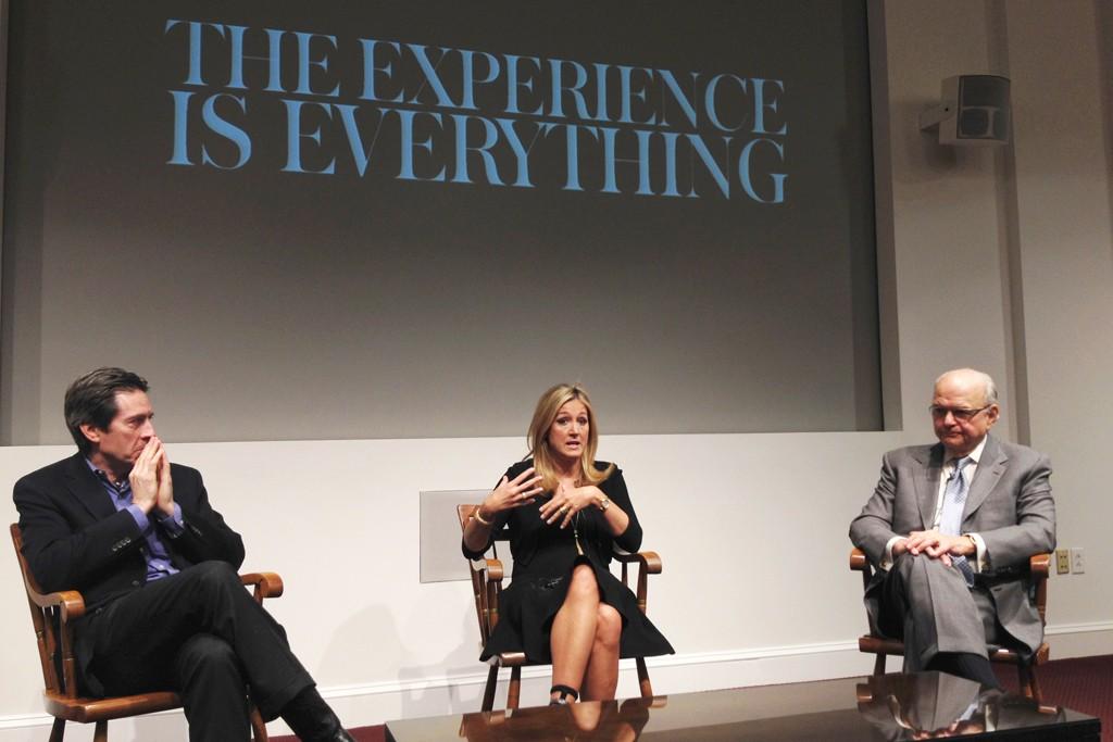 Scott Malkin, Marigay McKee and Burt Tansky at Harvard