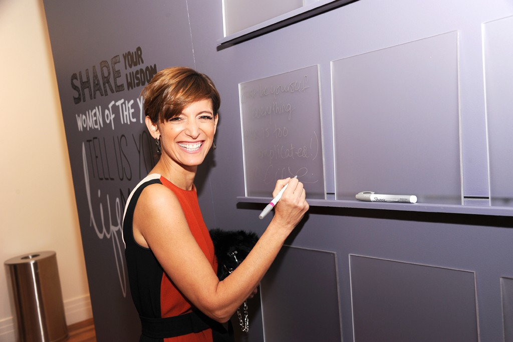 Cindi Leive backstage at  Glamour's Women of the Year awards.