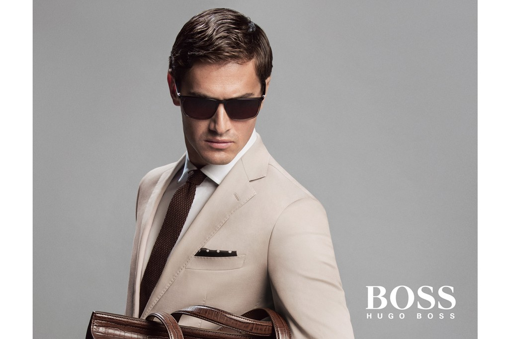 Charlie Siem in Hugo Boss' spring ad campaign.