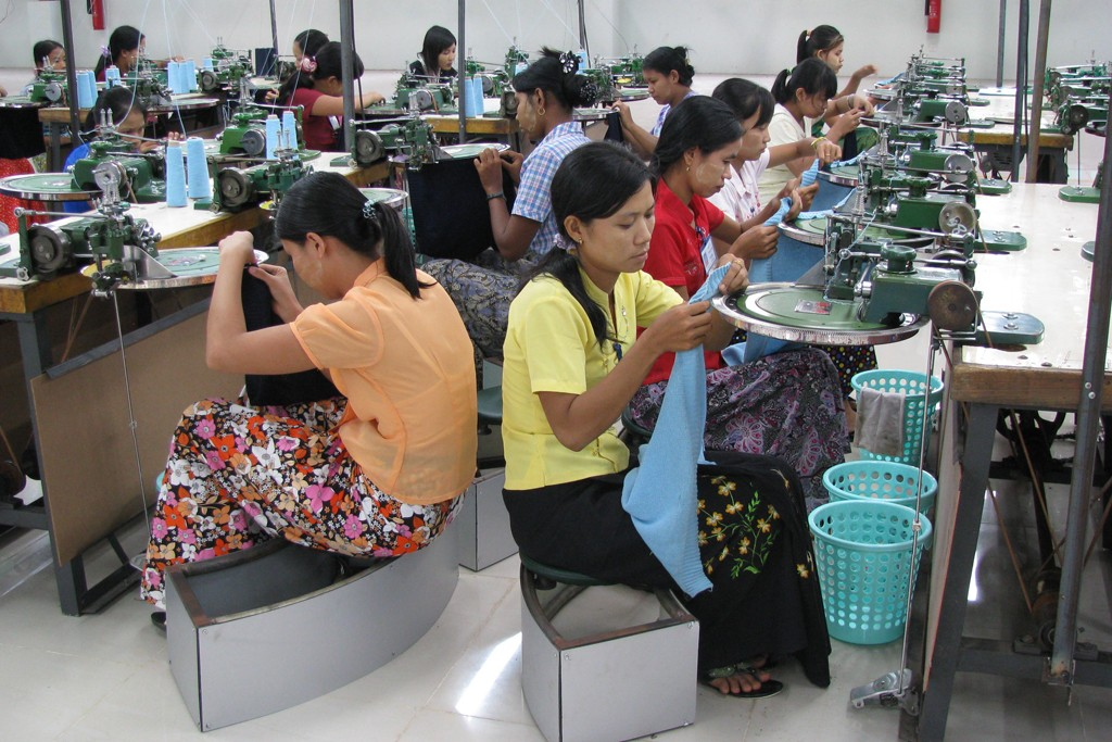 Prosperity Knitwear Myanmar Ltd.'s new factory in Yangon.