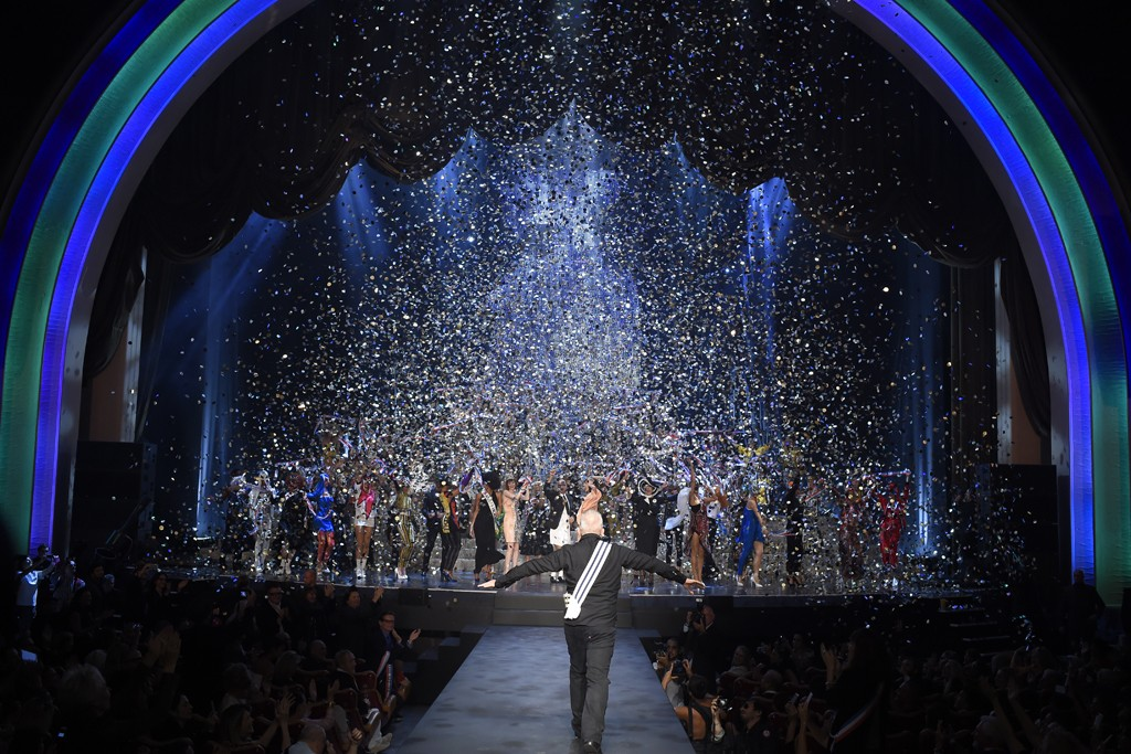 Confetti rained on Jean Paul Gaultier's final ready-to-wear runway.