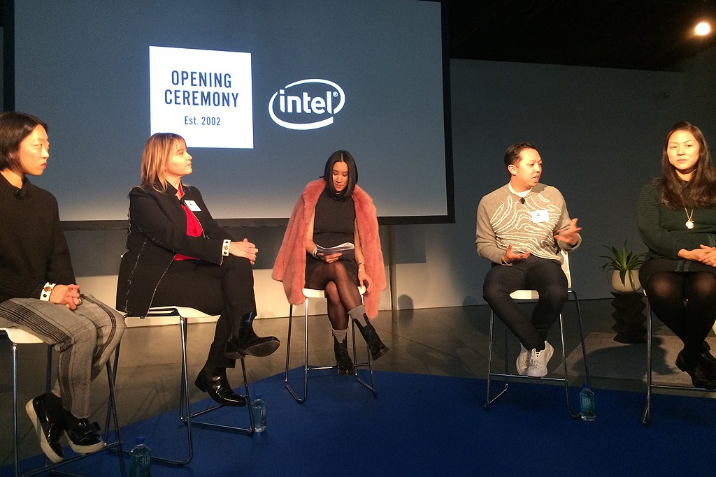 Opening Ceremony and Intel introduce MICA's functional features in panel hosted by Eva Chen.