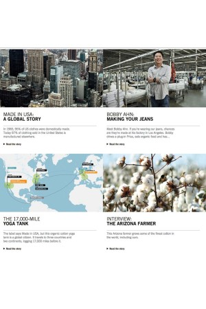 """The Web site's """"& Behind the Label"""" section tells the story of the company's sourcing and sustainability."""