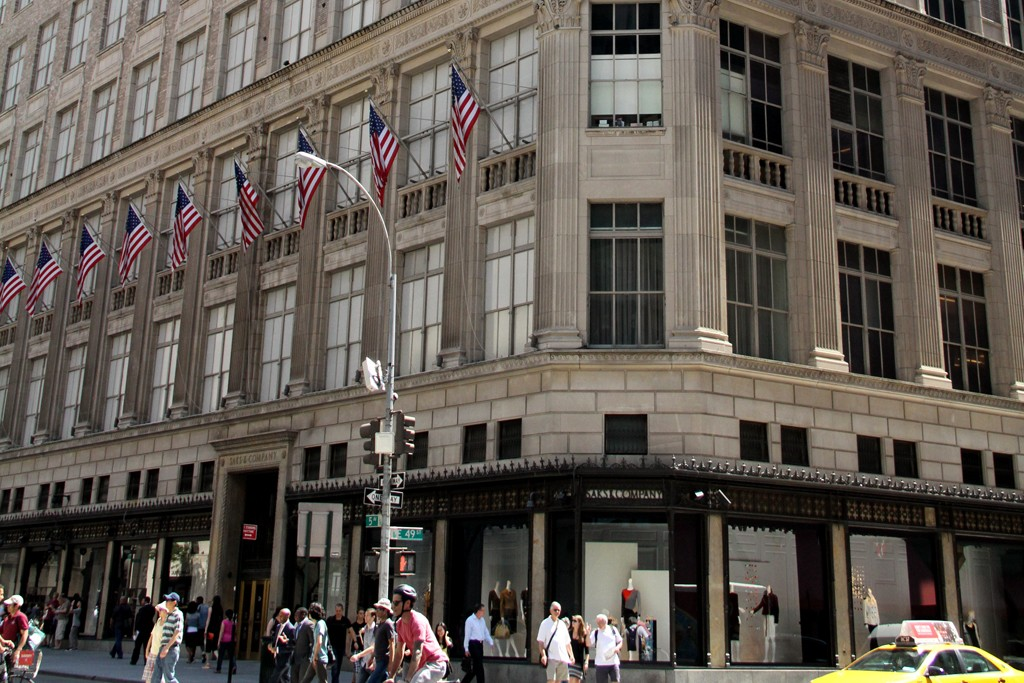 The Saks Fifth Avenue flagship in New York.