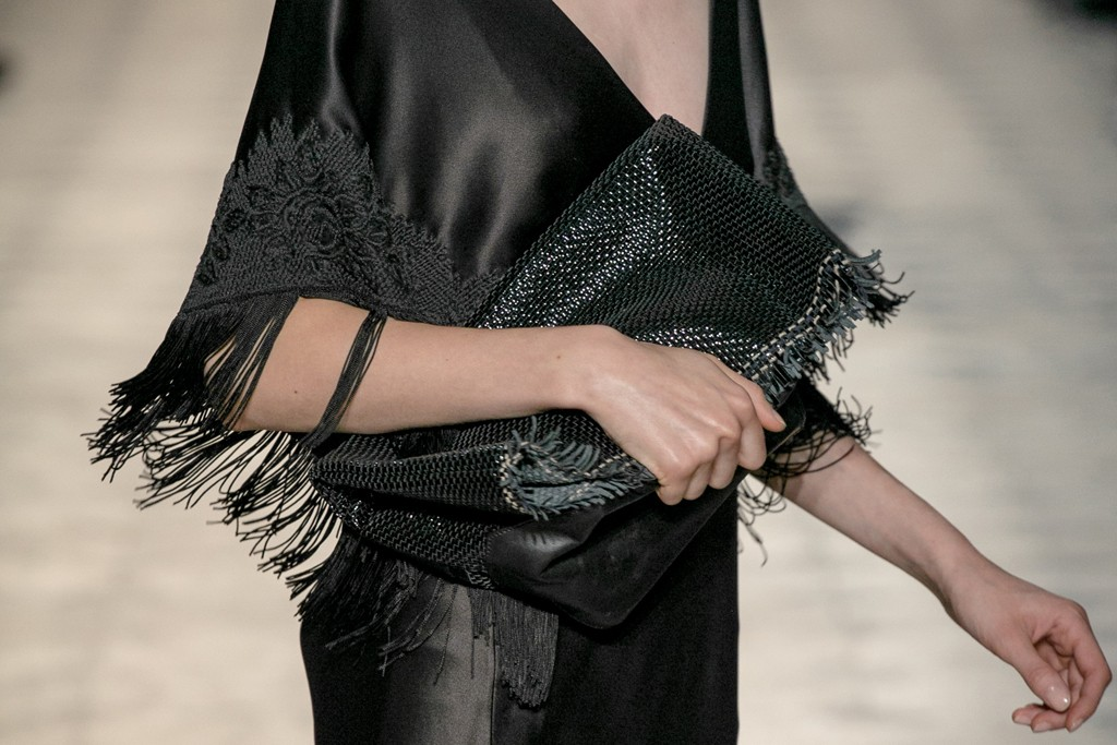 A Sharon Wauchob clutch that unfolds into a portfolio bag.