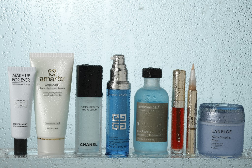 A variety of products that contain a base of water.