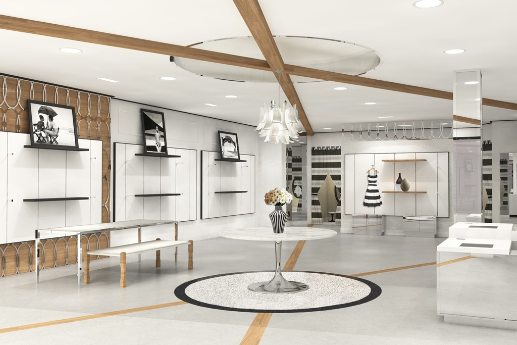 A rendering of the White House Black Market store.