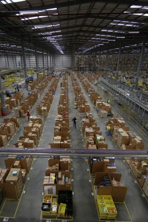 An Amazon fulfilment center.