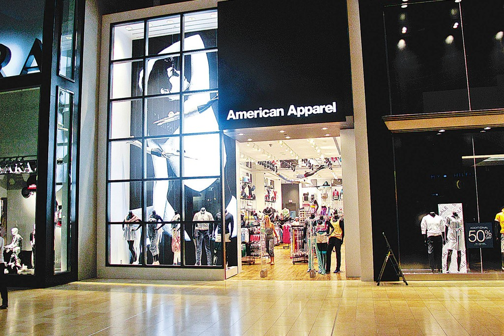 Five of the top seven spots at American Apparel are now held by women.