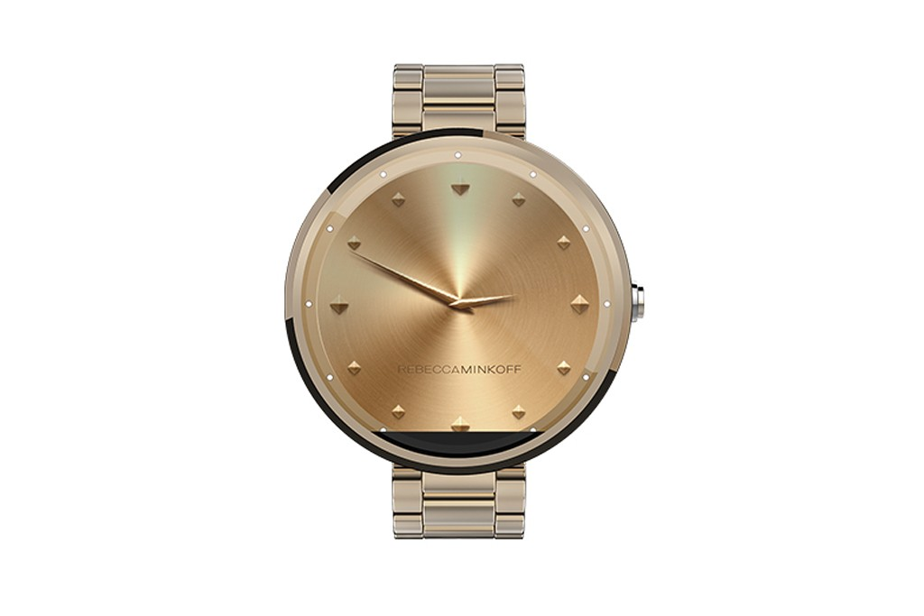 The new Android Wear watch designed by Rebecca Minkoff.