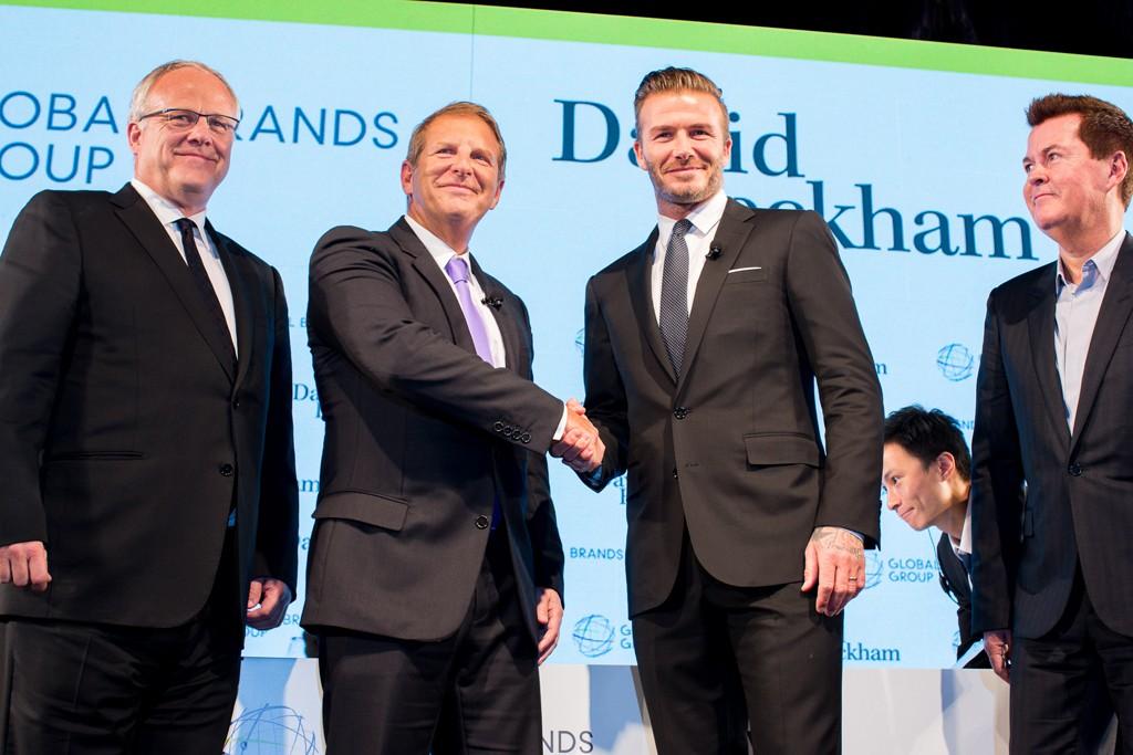 Dow Famulak, Bruce Rockowitz, David Beckham and Simon Fuller.