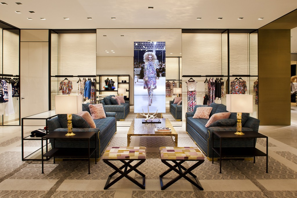 An interior view of Chanel's Houston boutique.