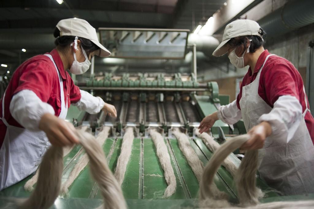 The Kingdom linen factory in Jiangsu Province.