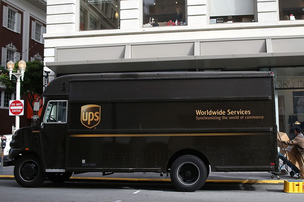 UPS predicted it would deliver 34 million packages Monday.