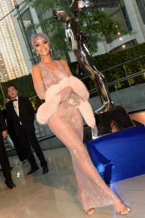 Rihanna at the CFDA Awards 2014.