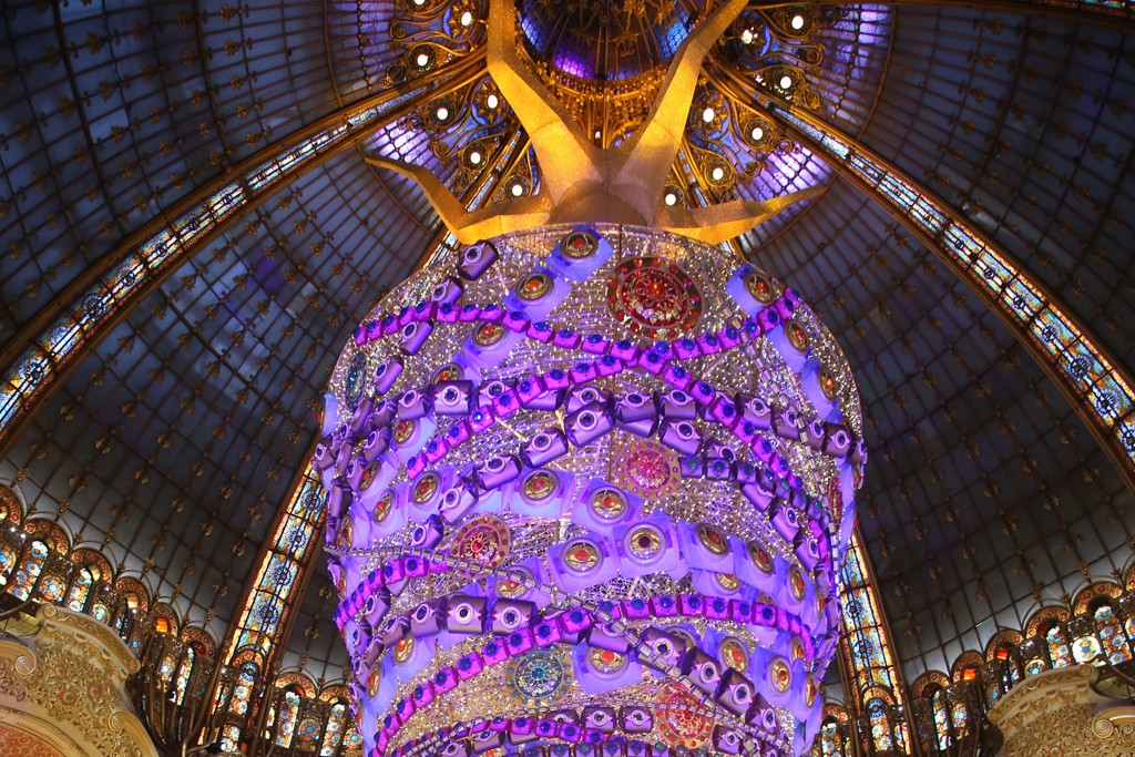 The tree at Galeries Lafayette's flagship store in Paris.