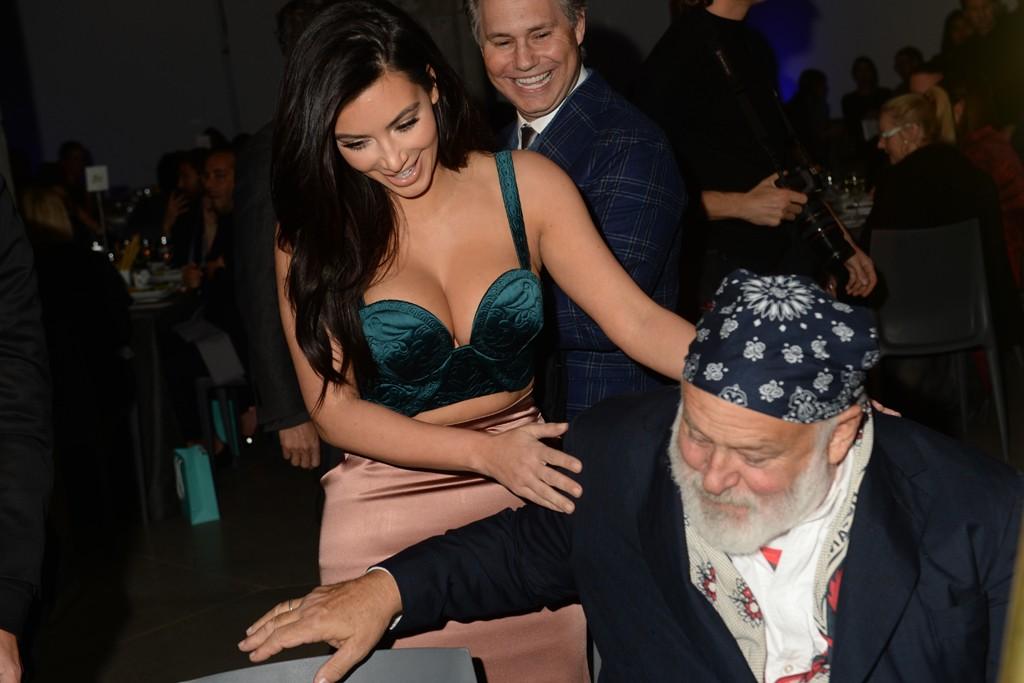 Kim Kardashian in Ulyana Sergeenko and Bruce Weber.