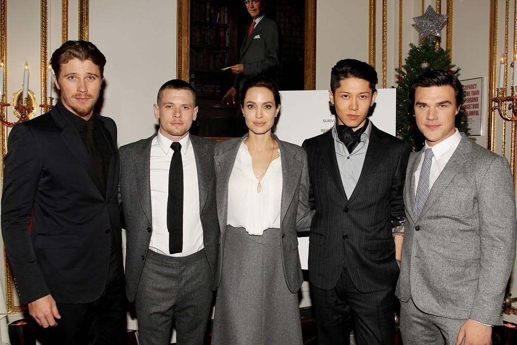 Garrett Hedlund, Jack O'Connell, Angelina Jolie, Takamasa Ishihara and Finn Wittrock.