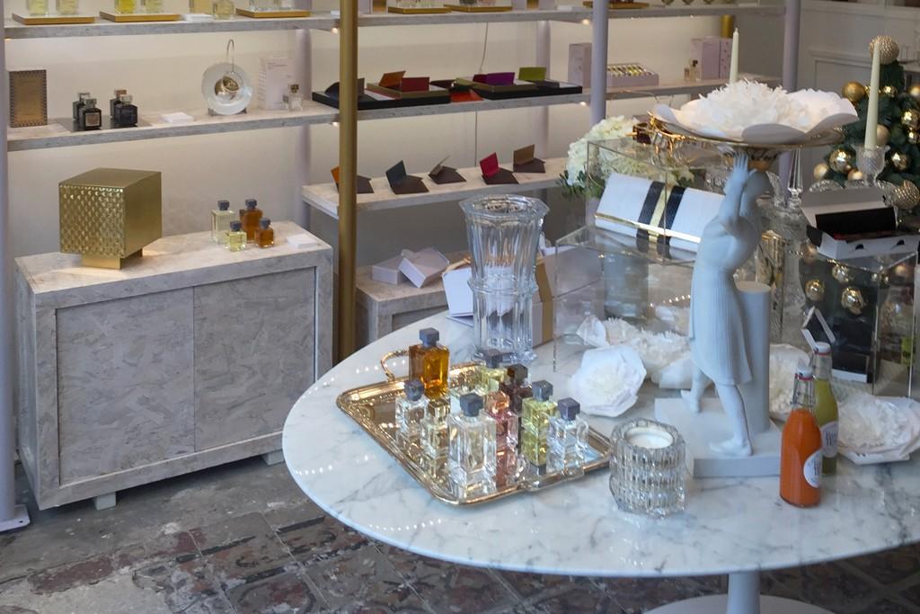 Inside the Maison Francis Kurkdjian pop-up shop in Paris.