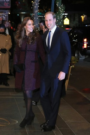 The Duke and Duchess of Cambridge arriving in New York.