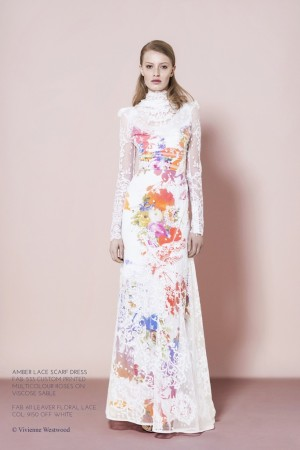 A look from Vivienne Westwood's Gold Label red carpet capsule collection.