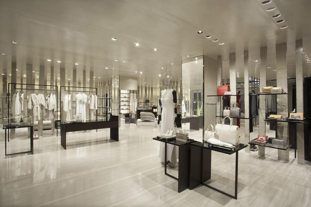 Inside the Giorgio Armani boutique in Miami's Design District.