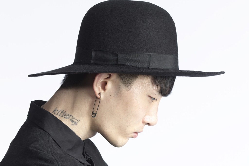Borsalino created this wide-brimmed hat especially for a Public School runway show.