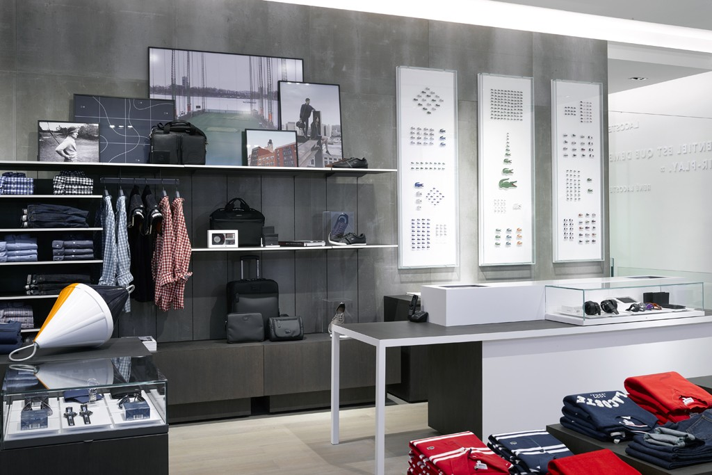 Lacoste's new French flagship.