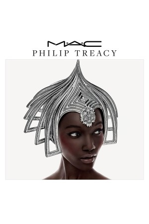 The campaign image for the MAC x Philip Treacy collaboration