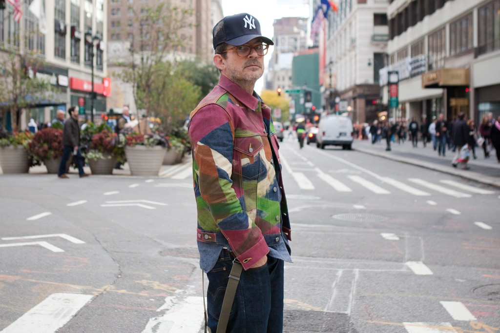 Mark McNairy, in the Garment District of Manhattan.