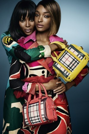 Naomi Campbell and Jourdan Dunn in Burberry's spring 2015 campaign.