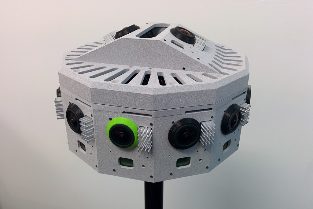 A Jaunt camera used to make virtual reality videos.
