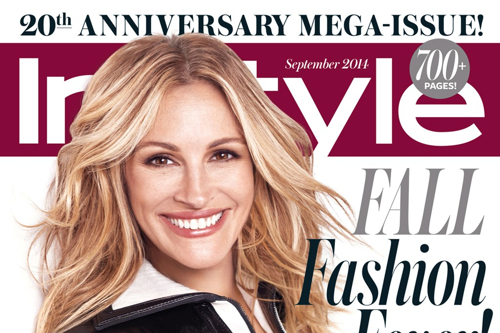 Julia Roberts on InStyle's September issue.