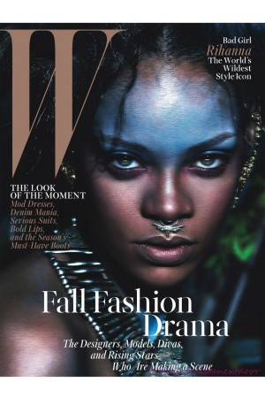 Rihanna on the cover of W's September 2014 issue