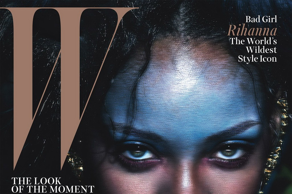 Rihanna on the cover of W's September 2014 issue.