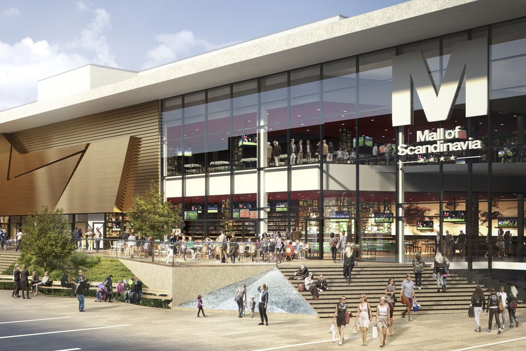 Rendering of the Mall of Scandinavia, which will be Sweden's largest shopping center.
